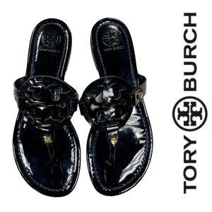 Tory Burch Black Patent Miller Sandals